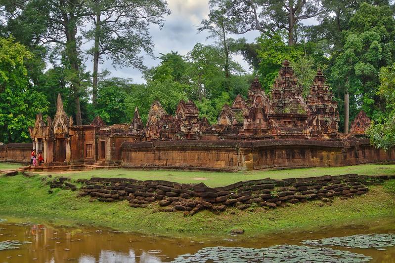 Banteay Srei temple ruins in Angkor Archeological Park near Siem Reap, Cambodia