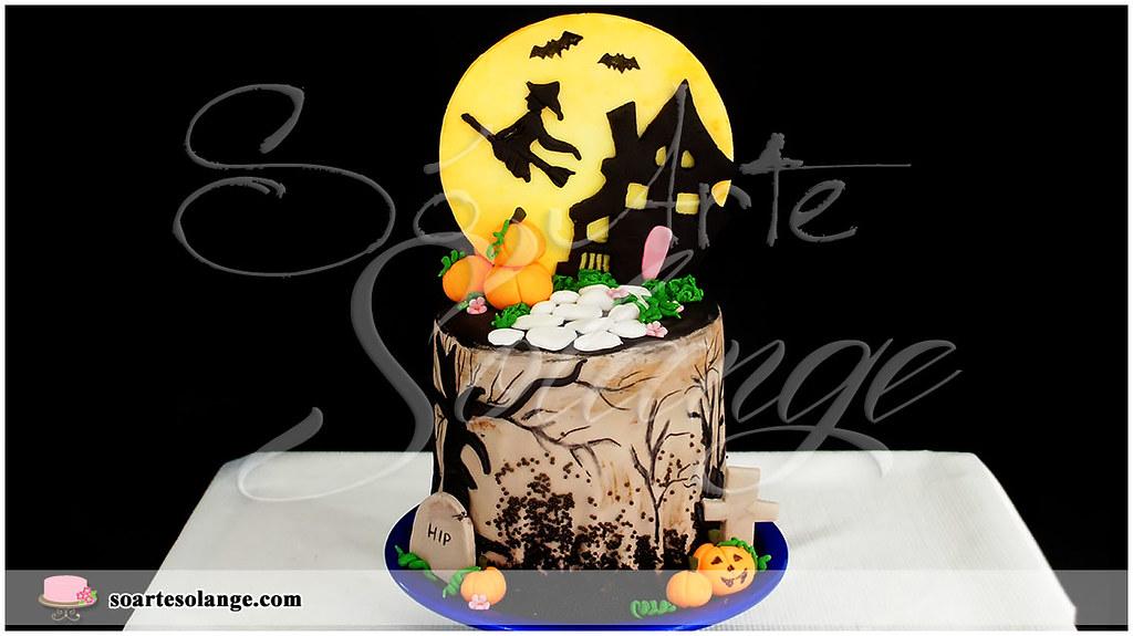 Bolo Decorado Halloween Dia Das Bruxas Www Soartesolan Flickr