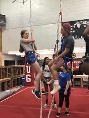 Wed, 2018-07-11 15:44 - High school students leaning the value of communication and leadership through an intensive ropes course.