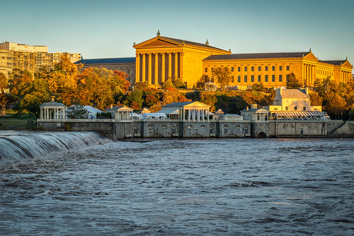 other autumn color historic water schuylkillriver city fall philadelphia leaves urban waterfall river philly artmuseum waterworks sky philadelphiamuseumofart westriverdrive building landscape foliage nikon d800e
