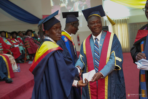 Prof. George K. T. Oduro presenting awards to some outstanding students