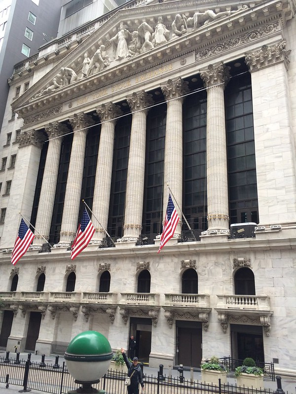 New York Stock Exchange on Wall St