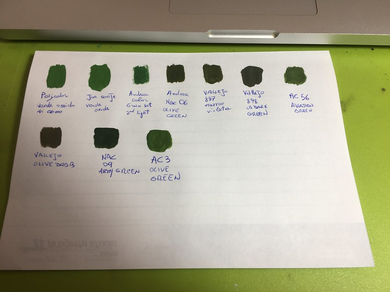 IDF troop - 1:35 - schema colori