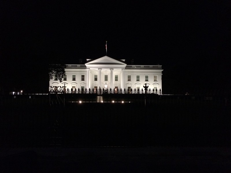 The White House. Always people protesting about something