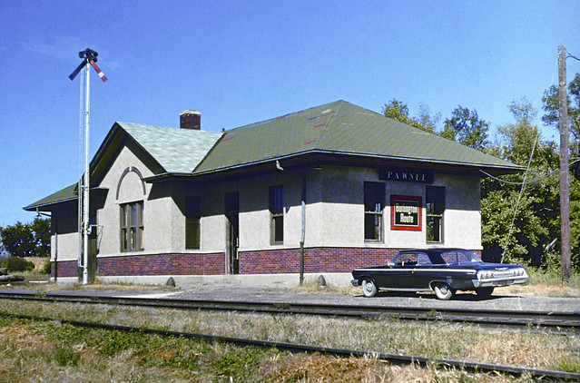CB&Q Depot at Pawnee, Nebraska