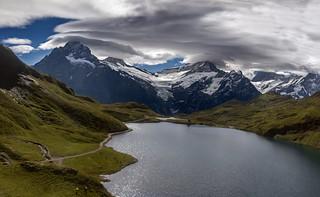 Summer Morning Time at Bachalpsee , Grindelwald. Canton of Bern. Switzerland. izakigur    27.08.18, 10:53:04No. 3126-30 | by Izakigur