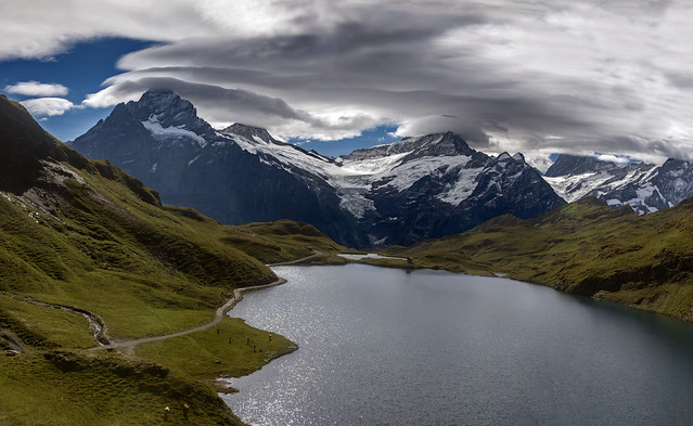Summer Morning Time at Bachalpsee , Grindelwald. Canton of Bern. Switzerland. izakigur    27.08.18, 10:53:04No. 3126-30