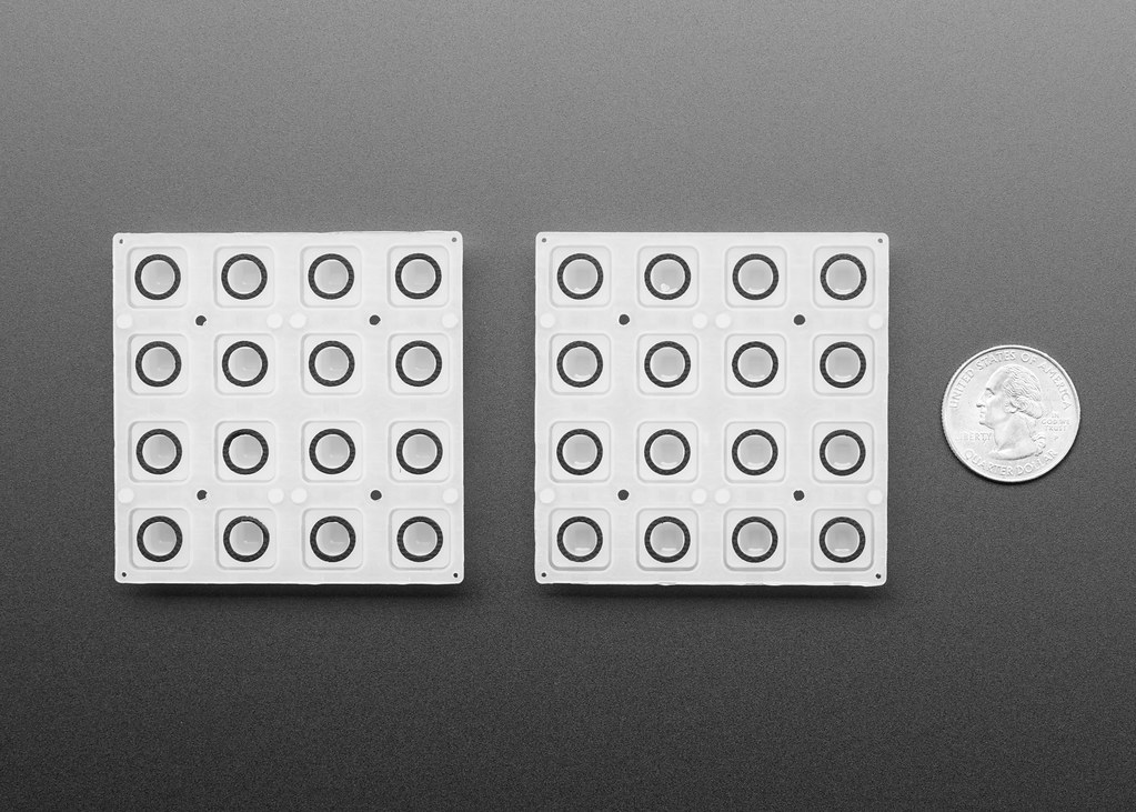 Silicone Elastomer 4x4 Button Keypad - 2 Pack | Available at