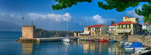 Οχυρό Ενετικό λιμάνι Ναυπάκτου Fort Venetian port od Nafpaktos panorama