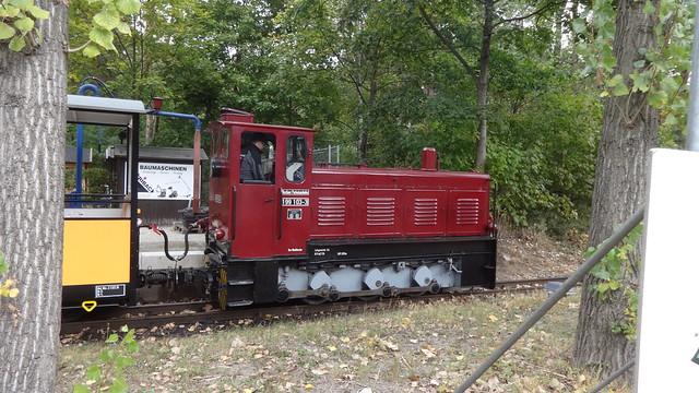 1957 Berlin-O. Diesellok Ute 199 103-3 Typ Ns4b von Lokomotivbau Karl Marx Babelsberg (LKM) Werk-Nr. 250026 Pioniereisenbahn Volkspark Wuhlheide An der Wuhlheide 189 in 12459 Oberschöneweide