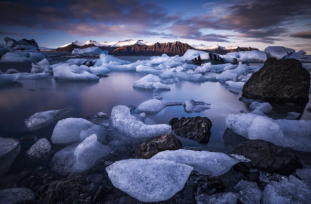 Ice Lagoon Sunset - Jökulsárlón