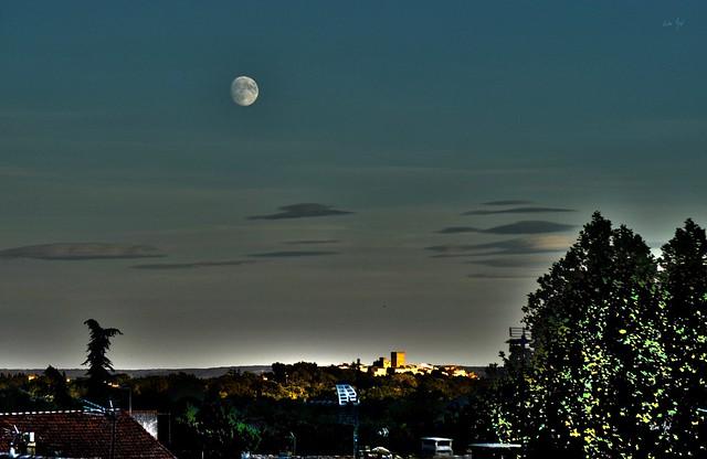 Moussac au clair de lune - Moonlight on Moussac