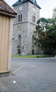 Vår Frue kirke og Tordenskioldstatuen sett fra Presidentveita