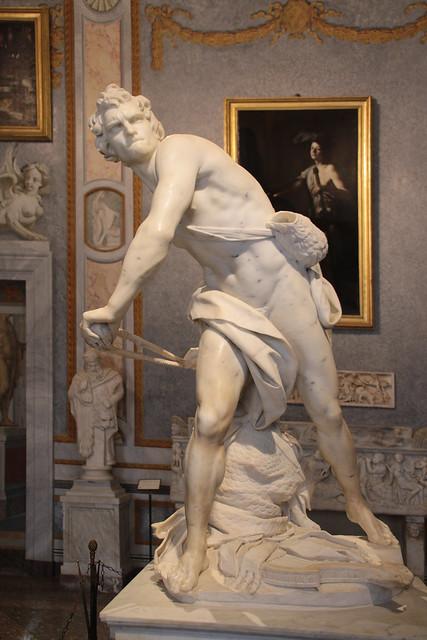 Gian Lorenzo Bernini (1598-1680) - David (1623-1624) - Sala II Galleria Borghese Roma