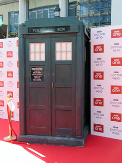 The TARDIS, Doctor Who Series 11 World Premiere - Sheffield, September 2018