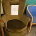 Dark green ornate chair E50