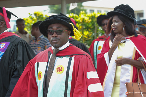 Prof. Eugene Darteh, Dean of Students, UCC in the Convocation procession.