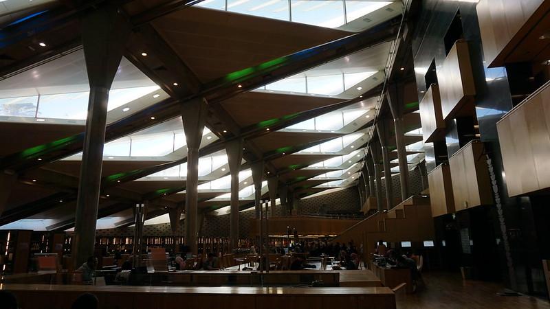 The Main Reading Room, the Bibliotheca Alexandrina, the Mediterranean, Egypt.