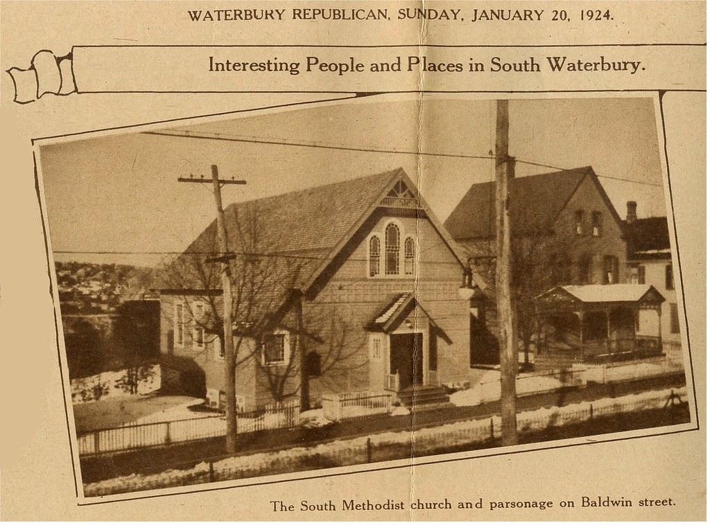 Baldwin St  Waterbury, CT  1924 | The South Methodist Church… | Flickr