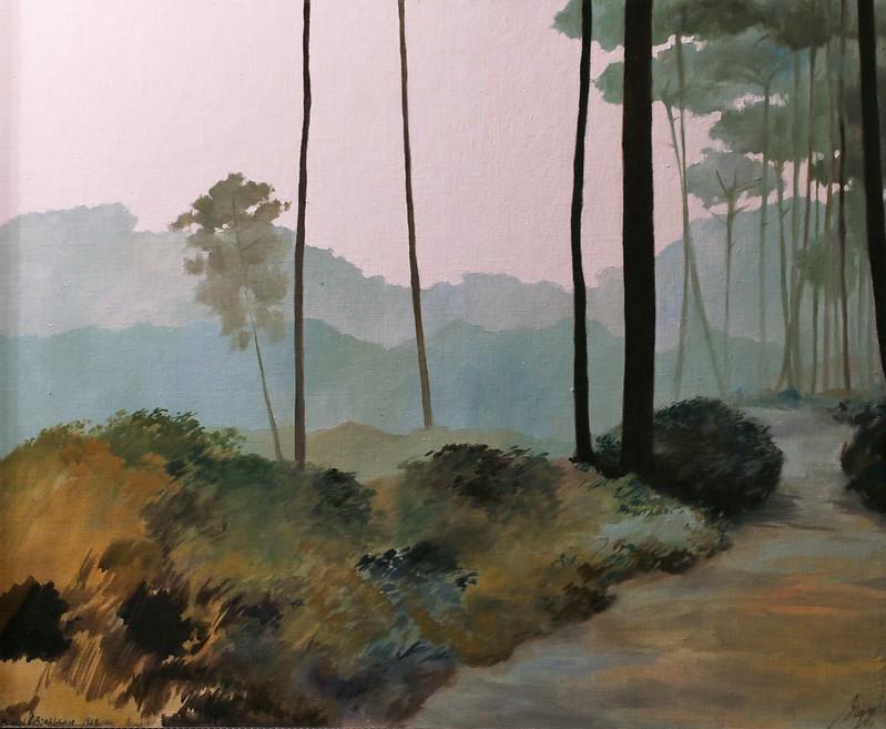 """Michel Brosseau (1954 Nantes)""""Chemin dans la forêt landaise"""" (1979)"""