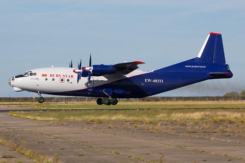 EW-483TI  Antonov An-12BK Ruby Star, Maastricht Aachen Airport - EHBK/MST   by neplev1