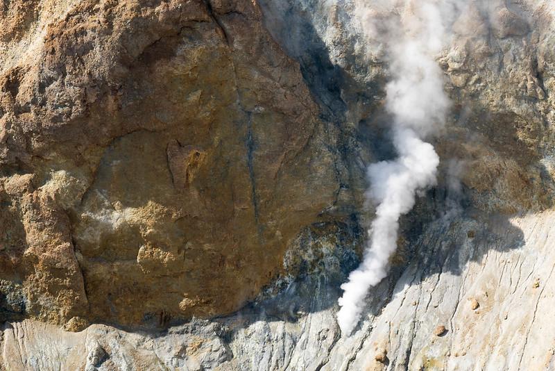 雌阿寒岳の火山ガス
