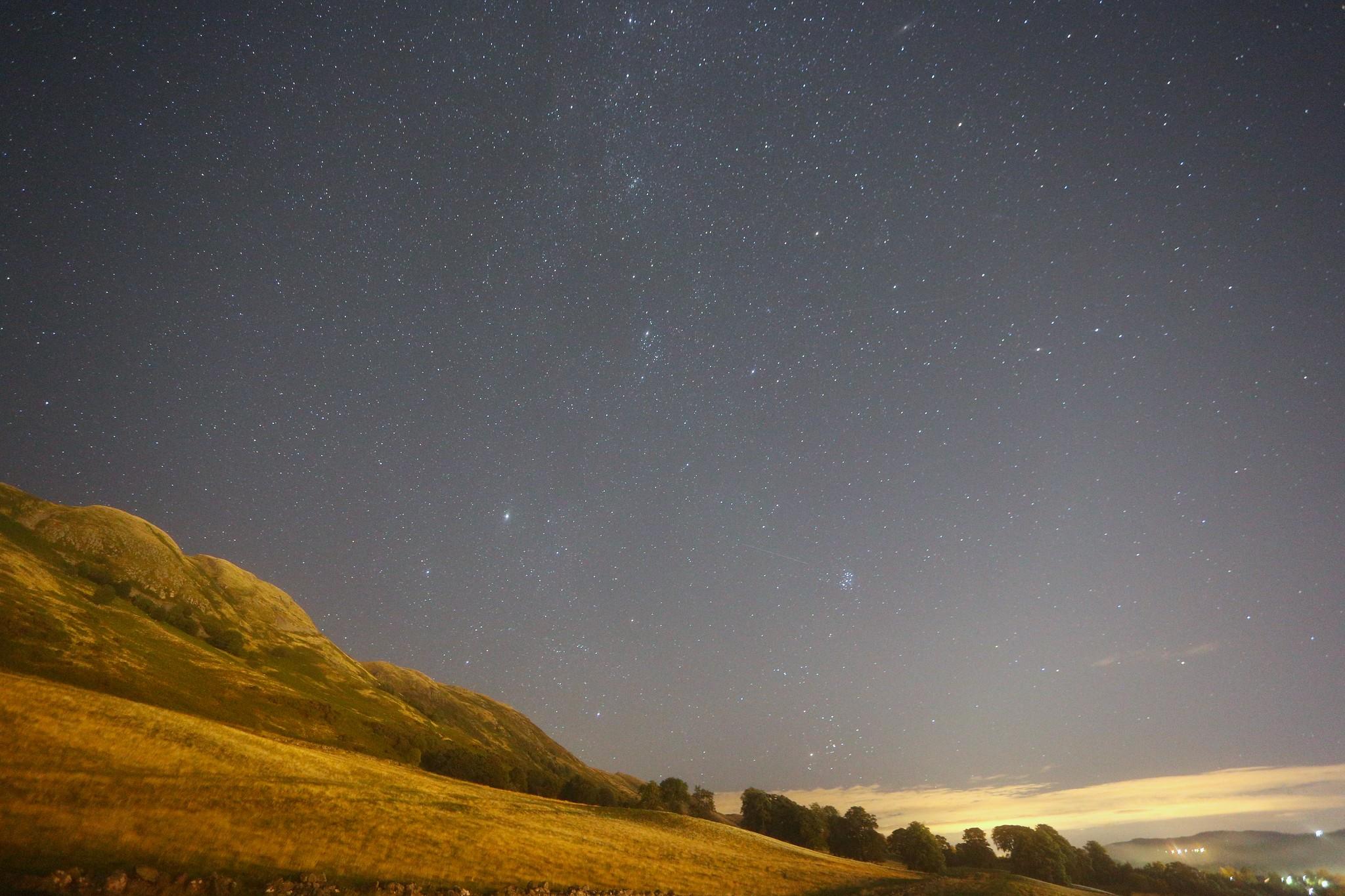 Milky Way, Pleiades and Auriga