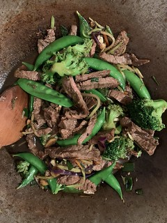 Beef Sesame Stir-Fry with Broccoli and Snap Peas | by ext212