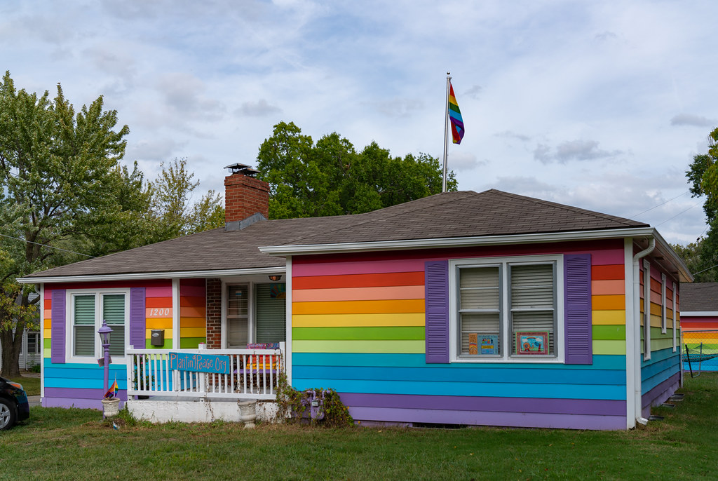 Image result for rainbow house westboro