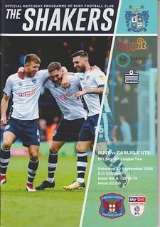 Bury V Carlisle United 22-9-18 | by cumbriangroundhopper