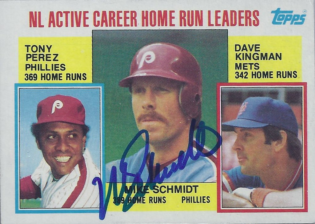 1984 Topps Nl Active Career Home Run Leaders 703 Mike