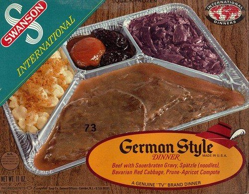 Swanson German Style TV Dinner 1972