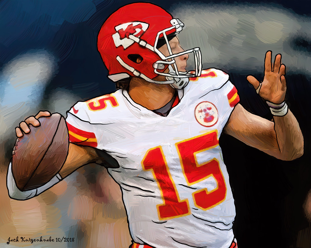Kansas City Chiefs Patrick Mahomes View All My Nfl Drawing