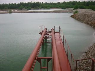 Aidu karjäär ja veekõrvaldus / Water removal of Aidu oil shale strip mine, Estonia