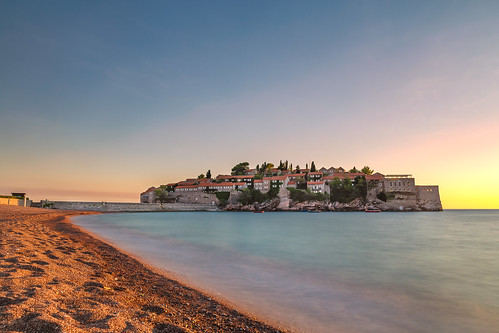 svetistefan opštinabudva juodkalnija me crna gora montenegro hotel island beach sea sky sunset water city architecture coast nature shore outdoors dawn evening harbor landscape outdoor building travel castle noperson horizon fort body seashore sitting tourism boat river large view cape man town