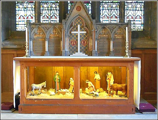 Church Nativity Scene ..