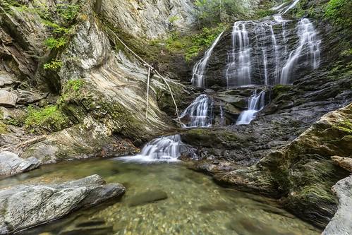 waterfall water fall vt stowe mossglenn mossglennfalls sony sonya7ii a7ii batis flow wet wide 18mm batis2818