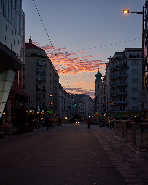 Wien Mitte am Morgen