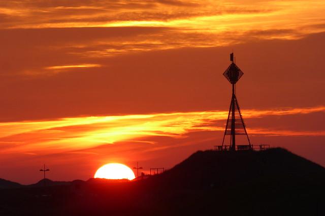 Sonnenuntergang an der Barke