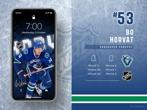 #53 Bo Horvat (Vancouver Canucks) iPhone Wallpapers | by Rob Masefield (masey.co)