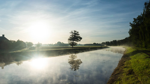 twente tweante oaweriessel overijssel nederland niederlande netherlands denekamp dinkel rivier river fluss sunrise zonsondergang sonnenaufgang