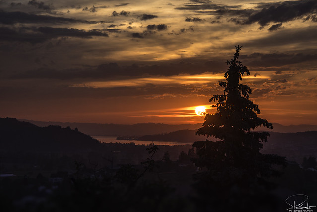 Sunset mood in Kaltbrunn - Switzerland