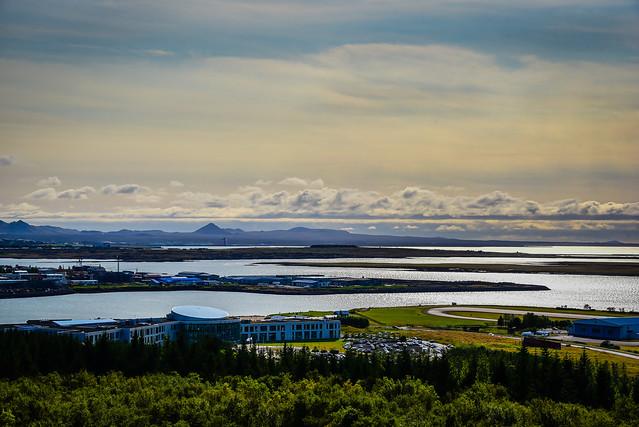 View of Reykjavik University from Observation Deck at the Perlan Museum - Reykjavík Iceland
