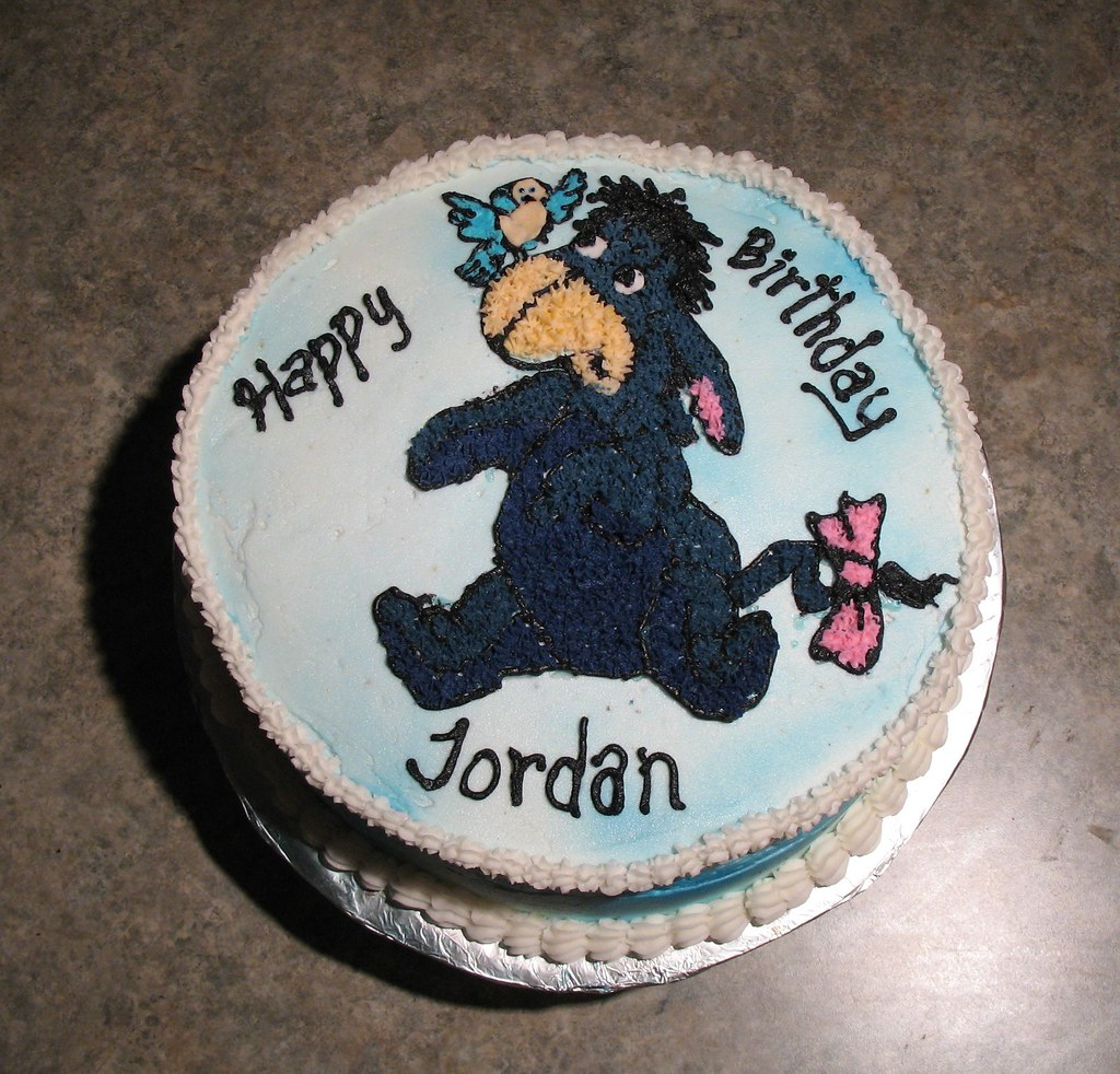 Terrific Eeyore Birthday Cake Compmouse Flickr Funny Birthday Cards Online Inifofree Goldxyz