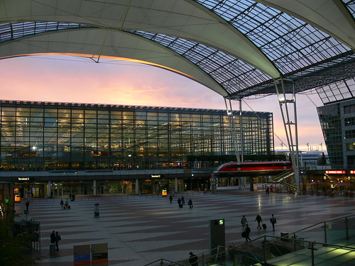 Munich airport at dawn | by Lens_Flare