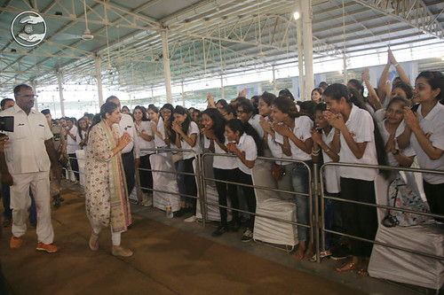Satguru Mata Ji blessings the participants