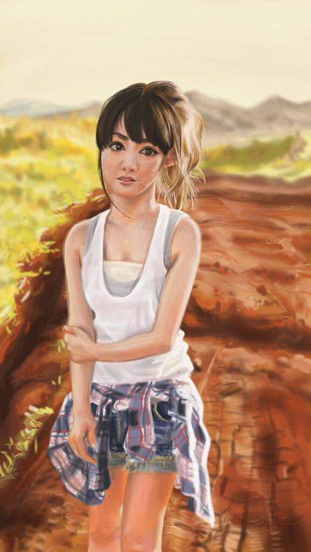 First painting corel painter 2018 Sayumi Michishige resize