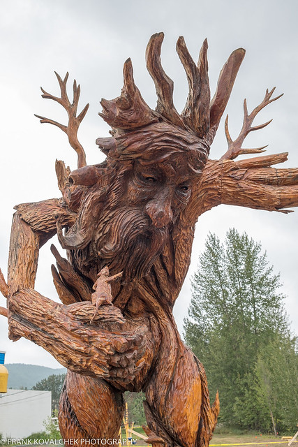 Chainsaw carving in Chetwynd, British Columbia
