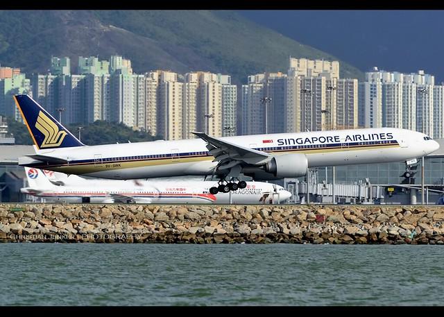 B777-312/ER | Singapore Airlines | 9V-SWK | HKG