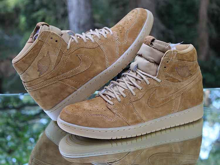 "69d4c5afe0b ... Air Jordan 1 Retro High OG ""Wheat"" Golden Harvest 555088-710 Men's Size"